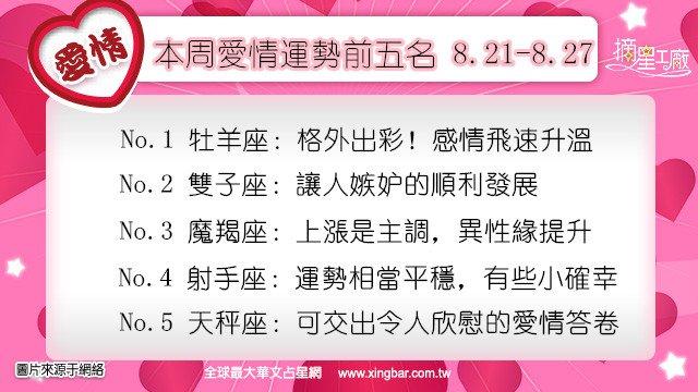 12星座本周愛情吉日吉時(8.21-8.27)